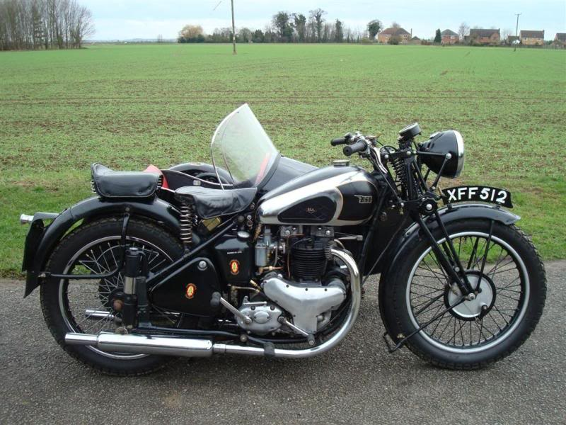 Star Twin fitted with a Watsonian Side Car
